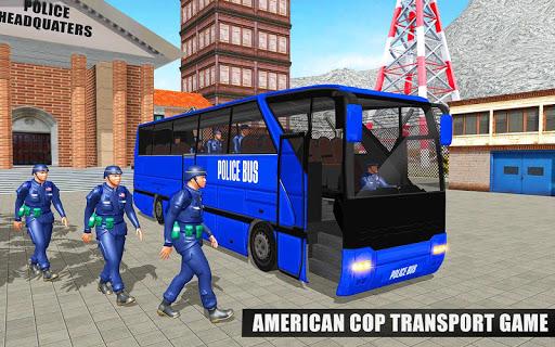 US Police Bus Mountain Driving Simulator  screenshots 14