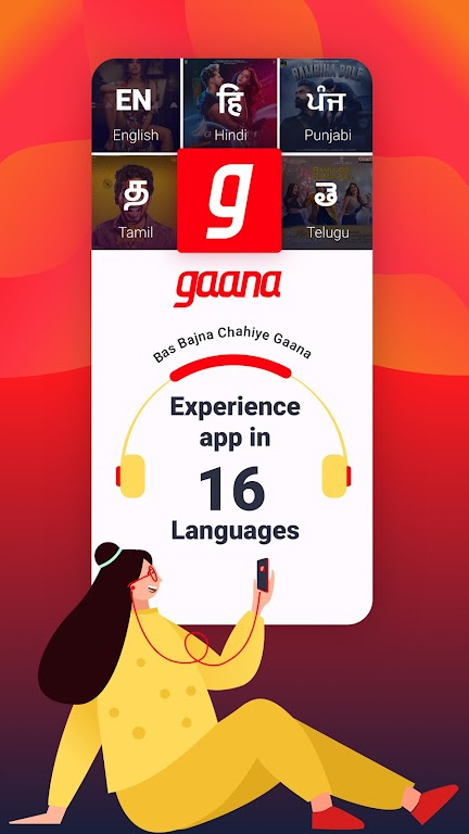 Gaana Music Hindi Song Free Tamil Telugu MP3 App  poster 6