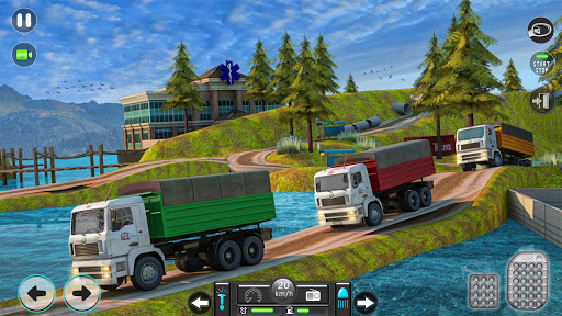 Real Mountain Cargo Truck Uphill Drive Simulator android2mod screenshots 3