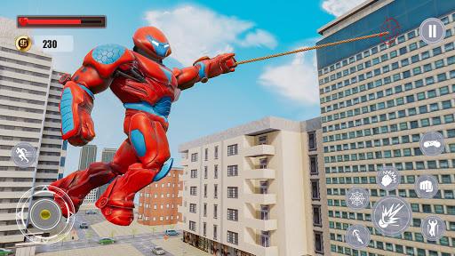 Flying Police Monster Robot Rope Hero: Crime City  screenshots 14
