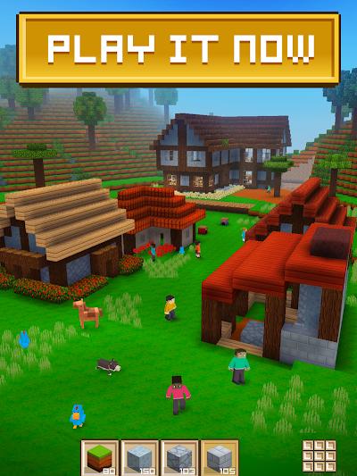 Block Craft 3D: Building Simulator Games For Free Android App Screenshot
