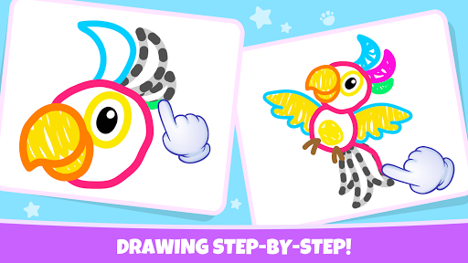 Pets Drawing for Kids and Toddlers games Preschool apkpoly screenshots 3
