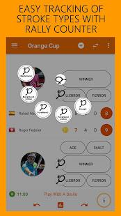 Orange Cup Tennis Score Keeper