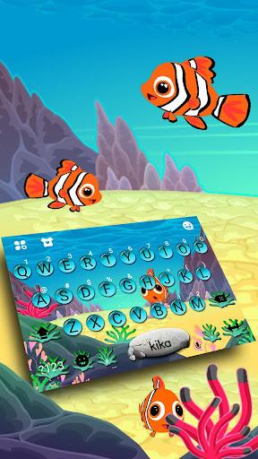Animated Crown Fish Keyboard Theme 1.0 screenshots 1