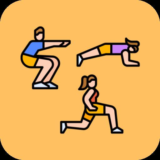 Squat Plank Lunge 30 Days Challenge icon