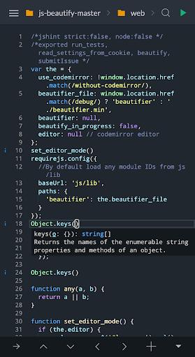 Spck Code Editor / JS Sandbox / Git Client 5.3.2 screenshots 2