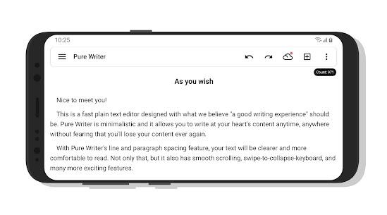 Pure Writer – Never Lose Content Editor & Markdown 3