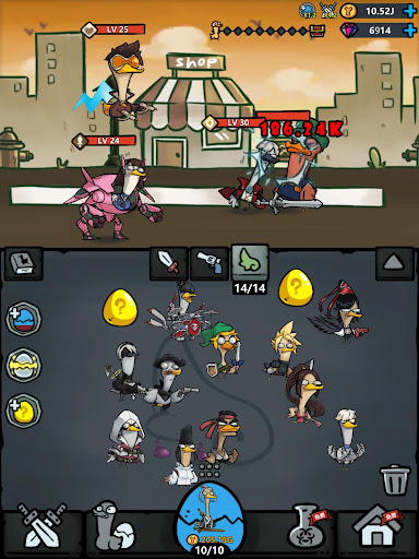 Merge Duck - Idle Click RPG apktram screenshots 12