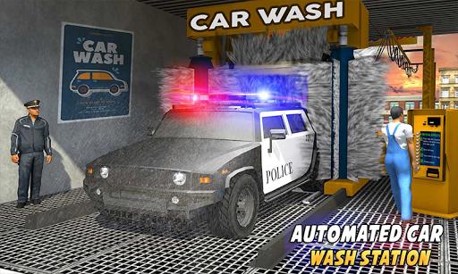 Police Car Wash Service: Gas Station Parking Games 1.4 screenshots 2