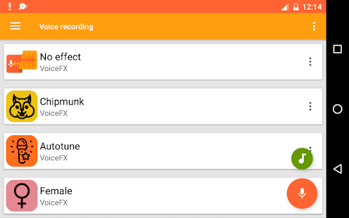 VoiceFX - Voice Changer with voice effects 1.1.8d-google Screenshots 14