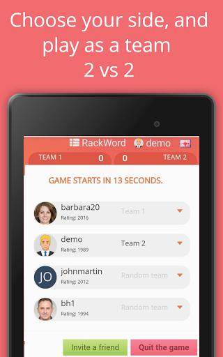 Rackword - Free real-time multiplayer word game screenshots 18