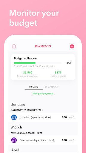 Weddi - Wedding Planner with Checklist&Budget  screenshots 7