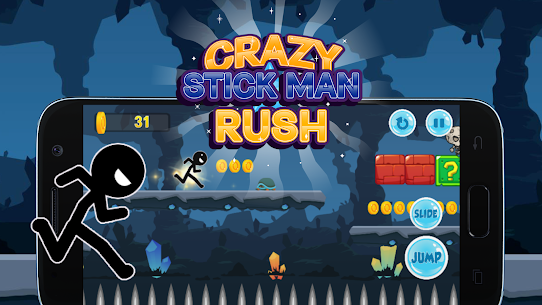 Crazy Stickman Rush Hack for iOS and Android 1