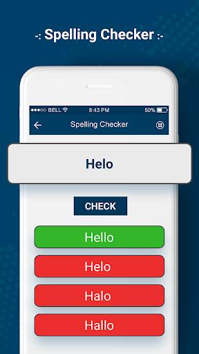 Correct Spelling Checker - English Grammar Check