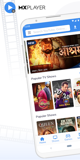 MX Player Online: Web Series, Games, Movies, Music 1.1.1 Screenshots 1