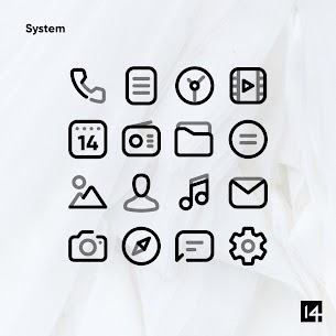 Aline Black icon pack – linear black icons v1.0 [Patched] 4