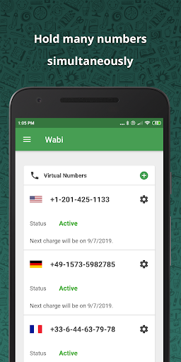 Wabi - Virtual Number for WhatsApp Business 2.8.0 Screenshots 3