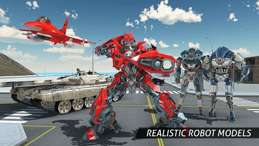 Air Robot Game - Flying Robot Transforming Plane  screenshots 6