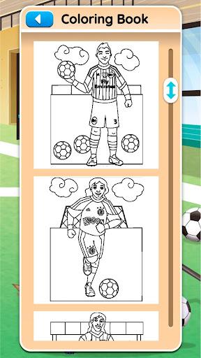 Football coloring book game screenshots 12