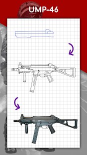 How to draw weapons step by step, drawing lessons 1.6.4 Screenshots 8