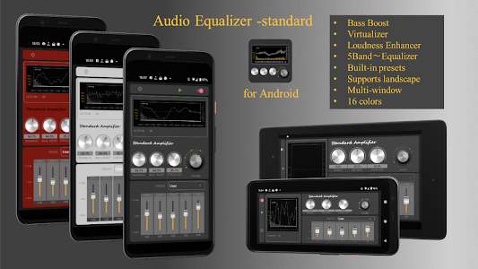 Audio Equalizer -Bass booster & Virtualizer 2.9.22
