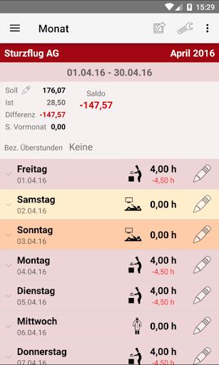 Working Time Account 2.00.24 screenshots 1