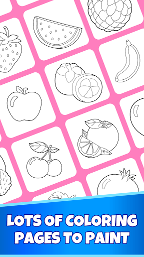 Fruits Coloring Pages - Game for Preschool Kids 1.0 screenshots 2