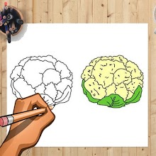 How to Draw Cauliflower & Other Vegetables Easily APK