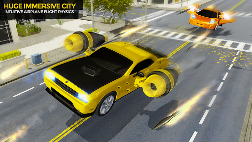 Flying Car Shooting Game: Modern Car Games 2020 1.1 screenshots 2