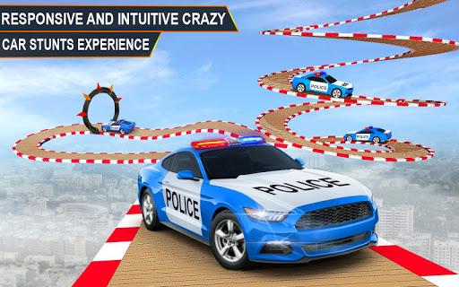 Police Spooky Jeep Stunt Game: Mega Ramp 3D apkpoly screenshots 8