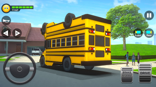 School Bus Simulator Driving: High School Drive 3D  screenshots 2