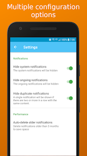Notification History – Save past notifications