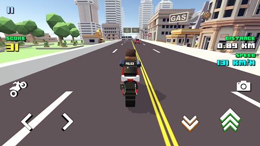 Blocky Moto Racing ud83cudfc1 - motorcycle rider  screenshots 8