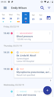 Medical records Screenshot