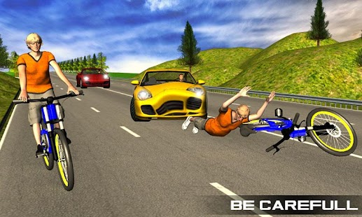 Bicycle Rider Traffic Race 17 Screenshot