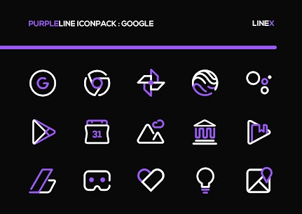 PurpleLine Icon Pack APK [PAID] Download for Android 1