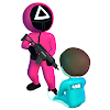 Pink Game: Squid, Fish Game