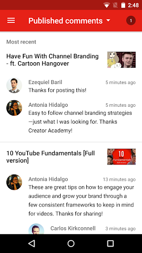 YouTube Studio 20.47.101 Screenshots 6