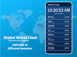 Global World Clock: Time Zone All Countries