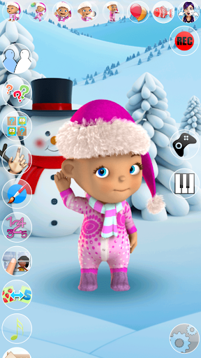 Talking Baby Babsy Winter Fun apktreat screenshots 1