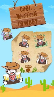 Cool Western Cowboy Emoji Sticker Screenshot