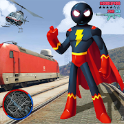 SuperHero stickman Rope Hero Gangstar Crime