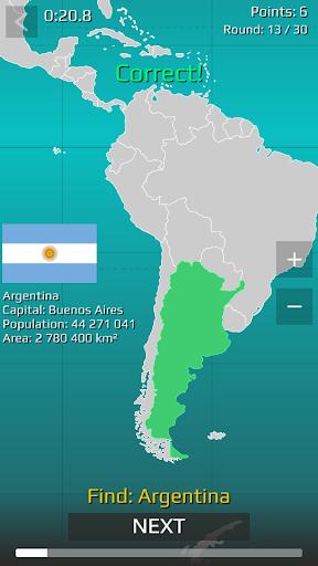 World Map Quiz  screenshots 17