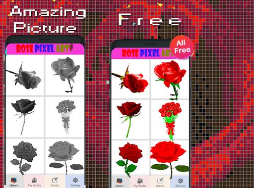 Rose Flower Pixel Art-Color By Number New 2021  screenshots 7