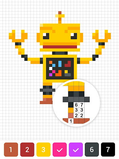 Draw.ly - Color by Number Pixel Art Magic Coloring 3.0.8 screenshots 12
