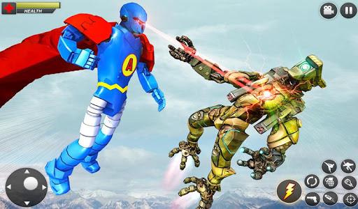 Flying Hero Robot Transform Car: Robot Games 2.1.3 screenshots 13