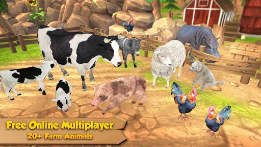 Télécharger Farm Animal Family: Online Sim  APK MOD (Astuce) screenshots 1