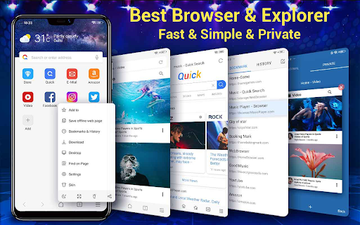 Web Browser & Fast Explorer android2mod screenshots 1