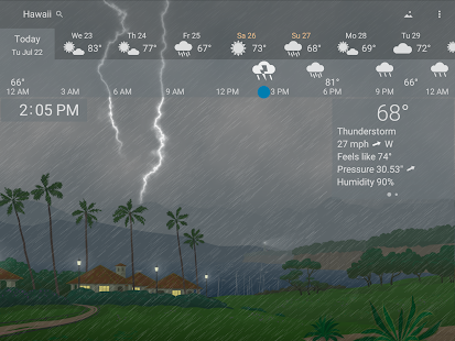 Awesome weather YoWindow + live weather wallpaper Screenshot