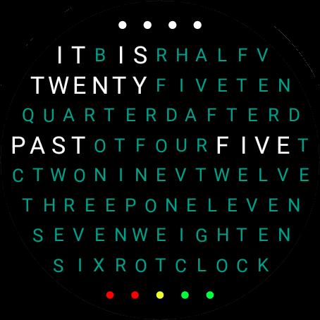 Word Clock Watch Face screenshot 5